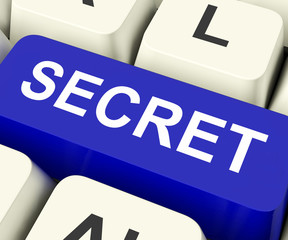 Secret Key Means Confidential Or Discreet.