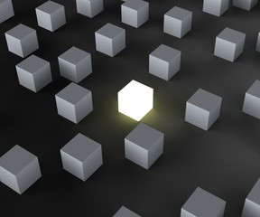 Unique Illuminated Block Showing Standing Out