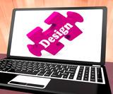 Design On Laptop Shows Creative Designer Artistic Designing