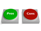 Pros Cons Buttons Show Positive Or Negative
