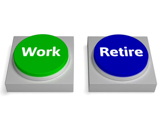 Work Retire Buttons Shows Working Or Retiring