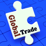 Global Trade Puzzle Shows Multinational Worldwide International