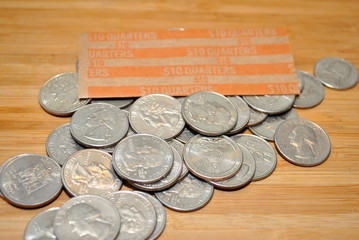 American Quarters with Bank Rollers