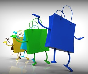 Shopping Bags Dancing Shows Shop Buys