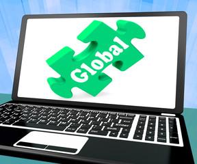 Global Laptop Shows Worldwide International Globalization Connec