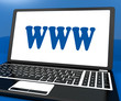 Www On Laptop Shows Websites Internet Web Or Net