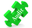 Audit Puzzle Shows Auditor Validation Scrutiny Or Inspection.