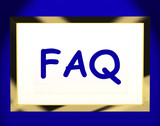 Faq On Screen Shows Assistance Or Frequently Asked Questions Onl