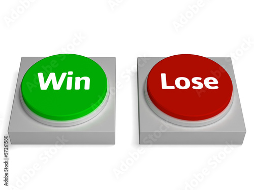 Win Lose Buttons Show Winning Or Losing