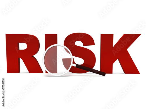 Risk Word Shows Unstable Hazard Or Risky