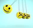 Happy And Sad Smileys Showing Emotions
