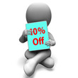 Ten Percent Off Tablet Means 10% Discount Or Sale Online
