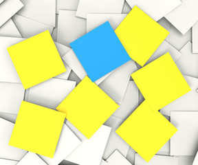 Blank Post It Notes Shows Copyspace Messages And Notices