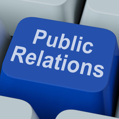 Public Relations Key Means News Media Communication Online