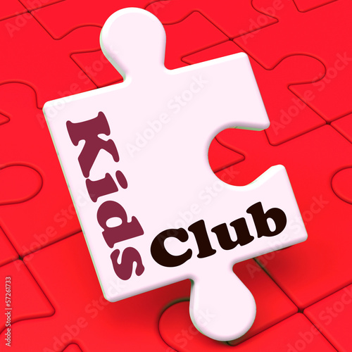 Kids Club Puzzle Shows Children's Or Toddlers Play