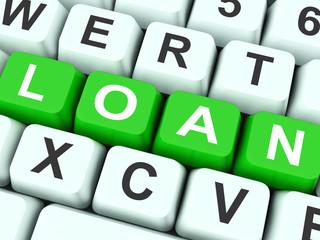 Loan Keys Show Lending Or Funding.