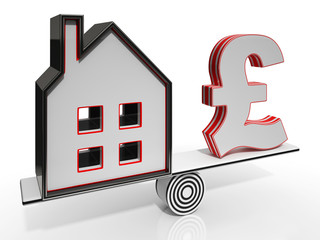 House And Pound Balancing Show Investment