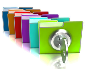 Files With Key Show Confidential And Classified