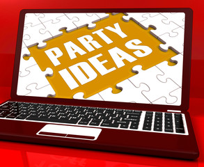 Party Ideas Laptop Shows Celebration Planning Suggestions