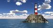 Leuchtturm auf hoher See