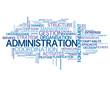 "Nuage de Tags ""ADMINISTRATION"" (gestion organisation entreprise)"