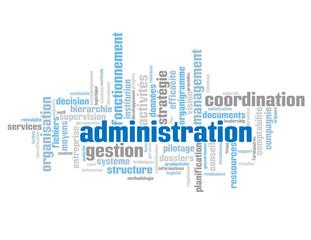 "Nuage de Tags ""ADMINISTRATION"" (entreprise gestion organisation)"