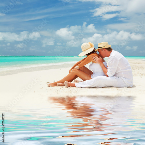 Couple on the beach of sea