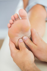 Picture of foot massage given from physiotherapist