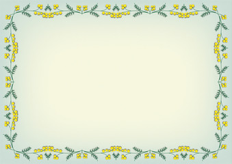 Backgrounds with Mimosa garland