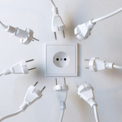 Many Electric Plugs are Fighting for Power