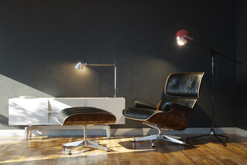 Home details of rest With Lounge Chair And Stylish Lamps Ver 2