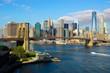 Obrazy na płótnie, fototapety, zdjęcia, fotoobrazy drukowane : Brooklyn Bridge NYC Skyline