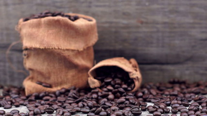 Coffee Beans dolly shot