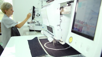 Woman engineer working in the textile industry