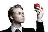 .Businessman and apple
