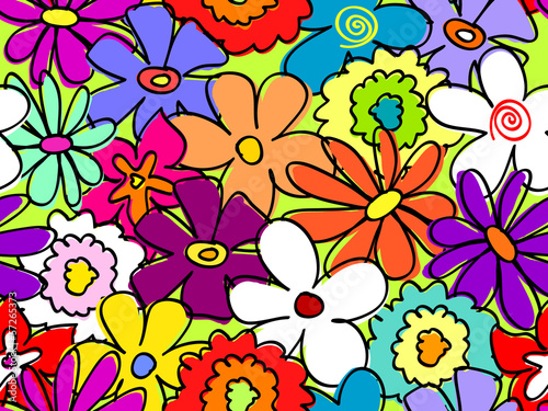Seamless busy flower pattern 2