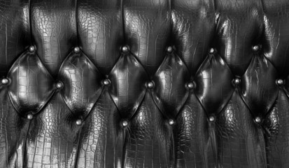 Black upholstery leather pattern background