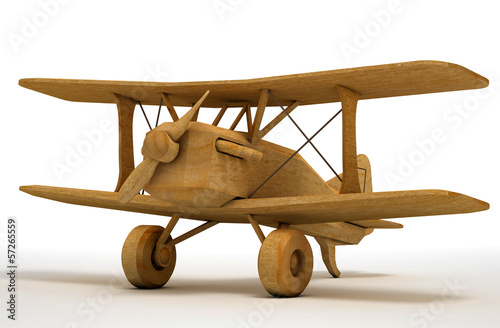 Wooden toy aircraft