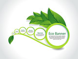 abstract Eco Banner Set