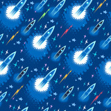 seamless pattern with space launch