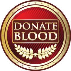 Donate Blood Red Emblem