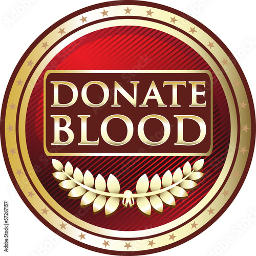 Donate Blood Red Emblem