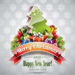Vector Christmas illustration with holiday elements