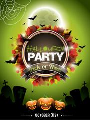 Vector illustration on a Halloween Party theme