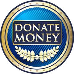 Donate Money Vintage Label