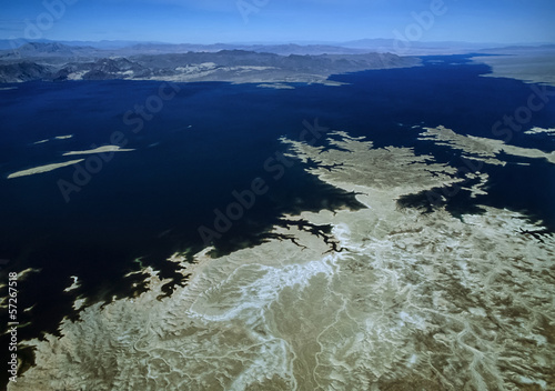 USA, Arizona, Death Valley, Lake Powell, aerial view