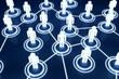 Human 3D model Light Connection Link Organization Network
