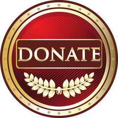 Donate Red Vintage Label