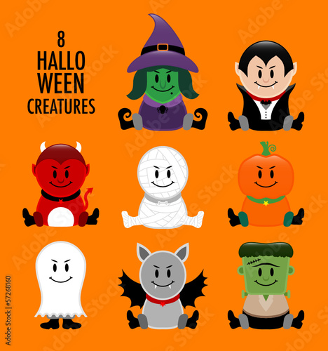 Collection Halloween Creatures Orange