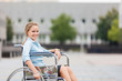 Smiling Businesswoman on wheelchair